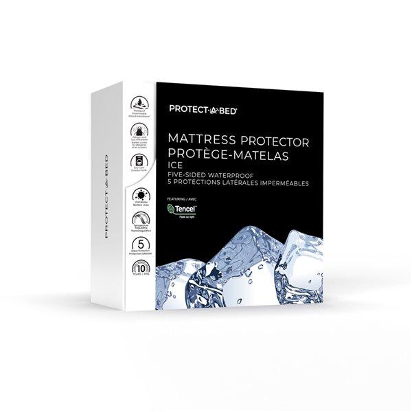 Couvre-matelas en polyester pour lit simple extra long TS Ice de Protect-A-Bed, 22po p.