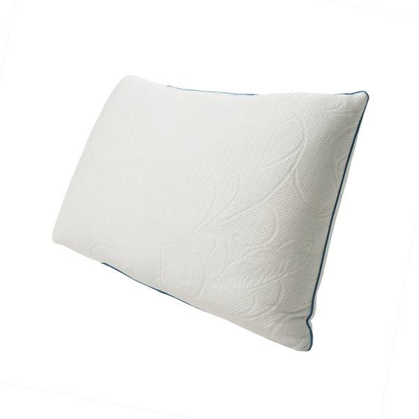 Oreiller mi-ferme en imitation de duvet Protect-A-Bed pour grand lit, emballage de 1