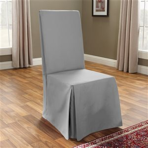 Sure Fit Cotton Grey Duck Dining Chair Slipcover