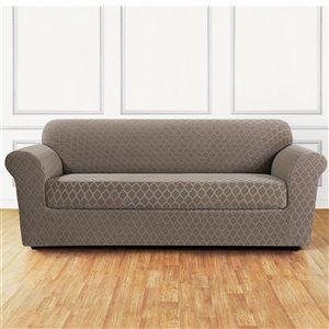 Sure Fit Grand Marrakesh Beige Jacquard Sofa Slipcover