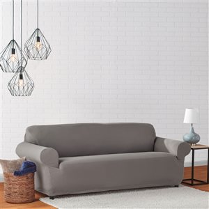 Sure Fit Mini Deco Grey Jacquard Sofa Slipcover