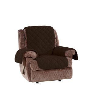 Sure Fit Deluxe Pet Brown Jacquard Recliner Slipcover
