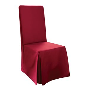 Sure Fit Cotton Red Duck Dining Chair Slipcover