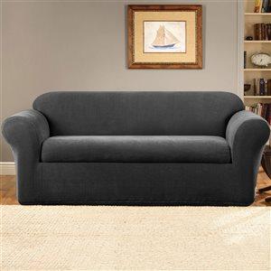 Sure Fit Stretch Metro Grey Jacquard Sofa Slipcover
