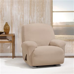 Sure Fit Stretch Morgan Brown Jacquard Recliner Slipcover