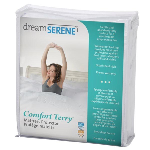 Couvre-matelas en tissu éponge pour lit simple extra long Comfort Terry de DreamSerene, 22po p.