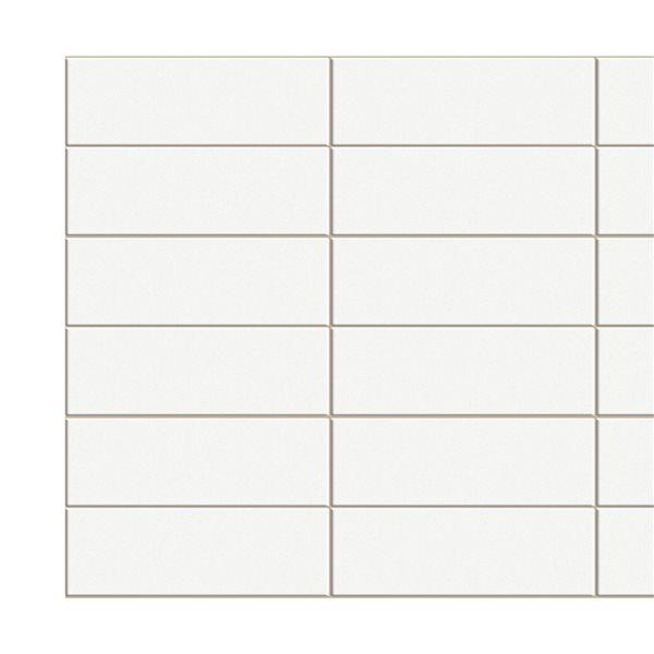 Panneau mural Falkirk rétro 3D III de Dundee Deco, beige, 3,1 pi x 1,6 pi, 4,9 pi² chacun, paquet de 10