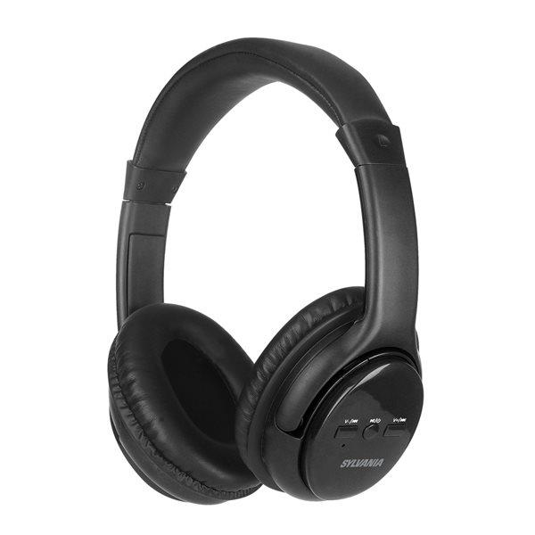 Écouteurs noirs supra-auriculaires par SYLVANIA