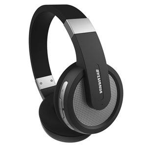 Écouteurs supra-auriculaires noirs par SYLVANIA