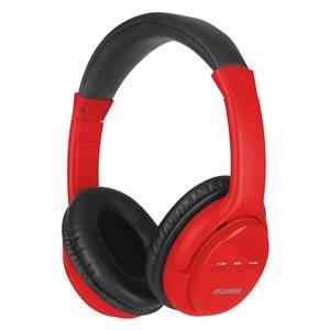 Écouteurs rouges supra-auriculaires par SYLVANIA