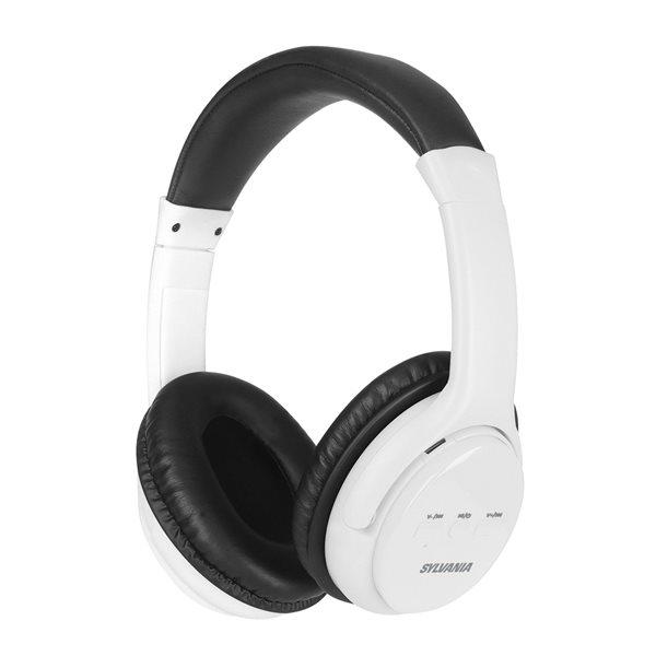 Écouteurs supra-auriculaires blancs par SYLVANIA