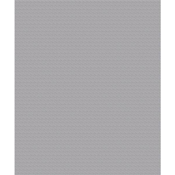 Papier peint en vinyle non encollé géométrique Darya par Advantage couvrant 57,8 pi², gris pâle