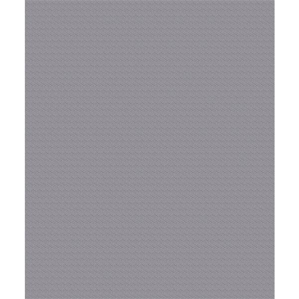 Papier peint en vinyle non encollé géométrique Darya par Advantage couvrant 57,8 pi², gris étain