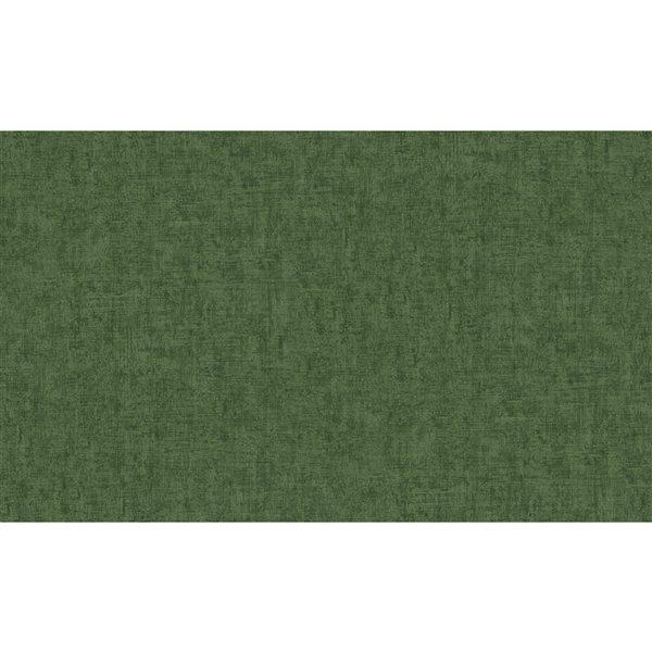 Papier peint en vinyle non encollé texturé Emalia par Advantage couvrant 57,8 pi², vert foncé