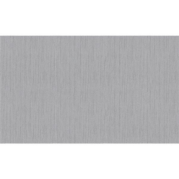 Papier peint en vinyle non encollé texturé et argenté Cahaya par Advantage couvrant 57,8 pi²