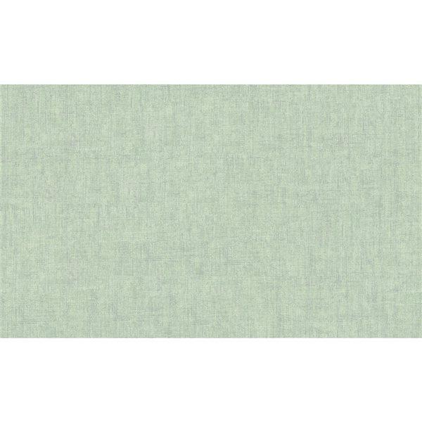 Papier peint en vinyle non encollé texturé Waimea par Advantage couvrant 57,8 pi², vert pâle