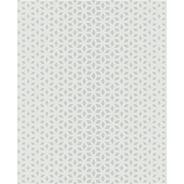 Papier peint non tissé et non encollé au motif géométrique Whiston par Fine Decor couvrant 56,4 pi², gris