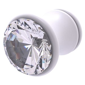 Allied Brass Carolina Crystal 1-in Matte White Round Traditional Cabinet Knob