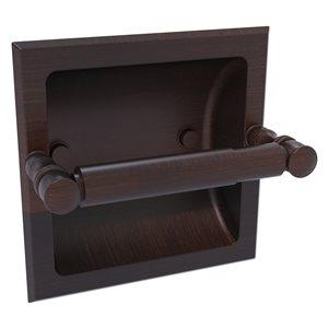 Allied Brass Carolina Venetian Bronze Recessed Double Post Toilet Paper Holder