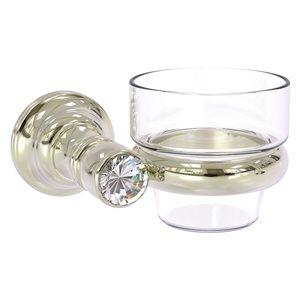 Allied Brass 1 Candle Carolina Crystal Glass Votive Candle Holder - Polished Nickel