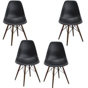 Plata Import Eiffel Black Modern Dining Chair - Set of 4
