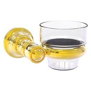 Allied Brass Carolina Glass Votive Candle Holder in Polished Brass