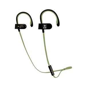 U.S. Army Wireless Sport Earbuds Green on Black