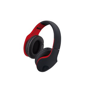 M Xpert DJ Headphones with Microphone Black on Red