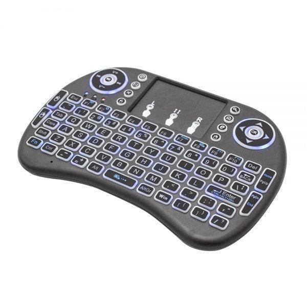 CJ Tech Wireless 2.4-GHz Multimedia Touch Keyboard with Touchpad - Black