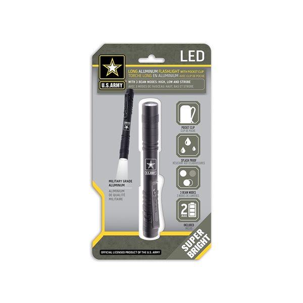 Lampe poche en aluminium de qualité militaire avec attache de poche par U.S. Army