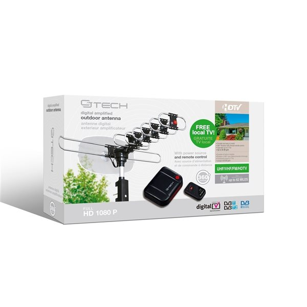 CJ Tech Amplified Outdoor Antenna with Remote