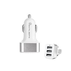 Adapteur de chargeur USB à 23 ports pour voiture de M, couleur argent