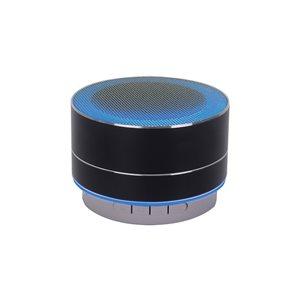 Haut-parleur noir Bluetooth Urban Portable en aluminium de M, lumière à DEL et mains libre