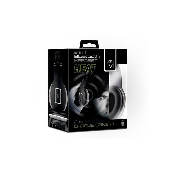 M Heat 2 in 1 Bluetooth Headset - Black