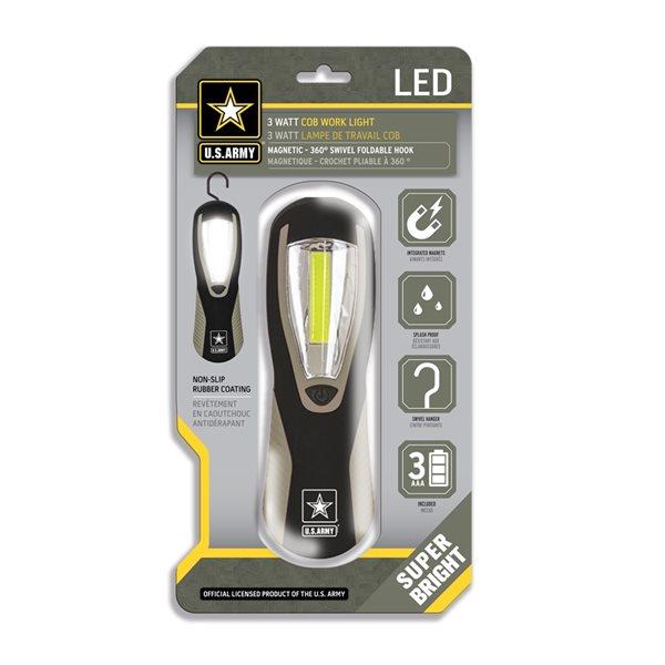Lampe de travail à 200 DEL et 1,5 volt de U.S. Army (Batterie comprises)