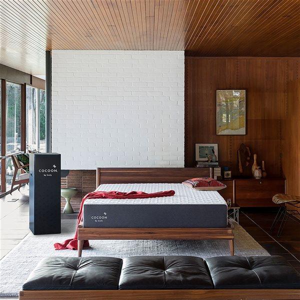 Matelas moelleux pour lit simple extra long Cocoon Classic de Cocoon by Sealy à mousse à mémoire de forme de 10po