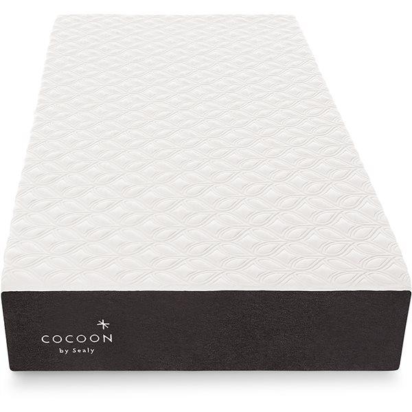 Matelas ferme pour lit simple extra long Cocoon Classic de Cocoon by Sealy à mousse à mémoire de forme de 10po
