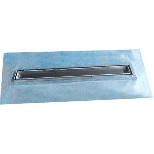 Drain de douche linéaire Tooltech Xpert rectangulaire de 24 po en acier inoxydable