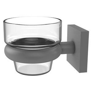 Allied Brass Montero Glass Votive Candle Holder in Matte Grey