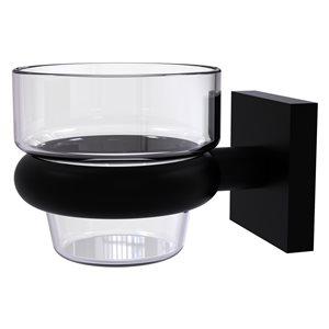 Allied Brass Montero Glass Votive Candle Holder in Matte Black