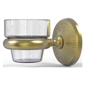 Allied Brass Monte Carlo Glass Votive Candle Holder in Satin Brass