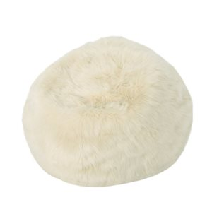Best Selling Home Décor Sona 3-ft  Faux Fur Beanbag, Taupe