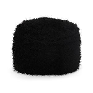 Best Selling Home Décor 5-ft Long Faux Fur Bean Bag, Black