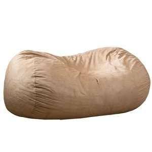 Best Selling Home Décor Orla 6.5-ft Suede Bean Bag, Tuscany