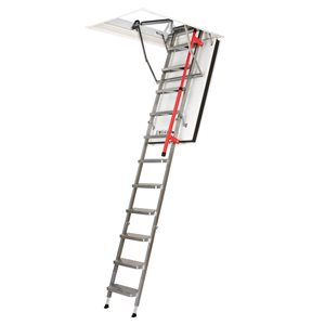 FAKRO LMF 22.5-in x 54-in Folding Steel Attic Ladder with 350-lb Capacity