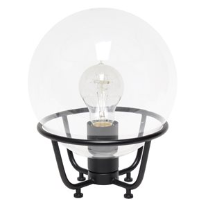 Lalia Home Studio Loft 10-in Matte Black Incandescent On/Off Switch Standard Table Lamp with Glass Shade