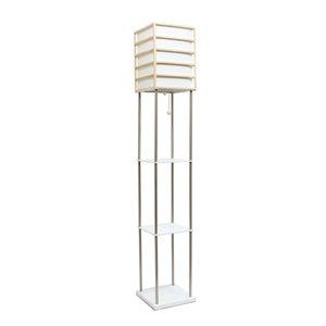Lalia Home 60-in White Standard Floor Lamp