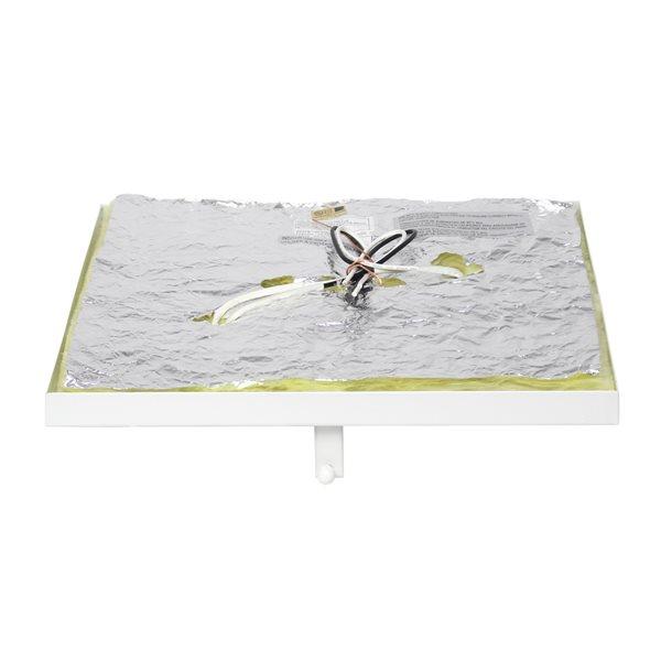 Plafonnier encastré de 12po moderne/contemporain Elipse Crystal par Elegant Designs à ampoule à incandescence, blanc