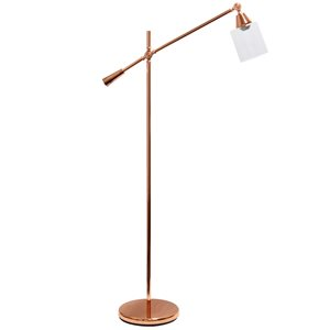 Lalia Home Studio Loft 56-in Rose Gold Standard Floor Lamp