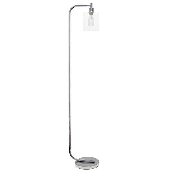Simple Designs 13.58-in Chrome Standard Floor Lamp